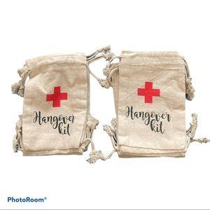 12 Muslin Hangover Kit Bags